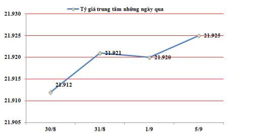 Đầu tuần 5/9: Tỷ giá USD/VND biến động không đáng kể
