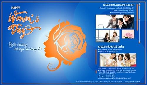Sản phẩm của Sacombank-SBJ dành riêng cho ngày Quốc tế Phụ nữ